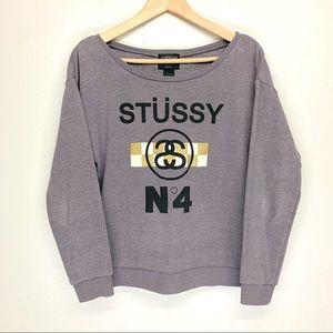 Stussy Logo Graphic Long Sleeve Sweatshirt Top